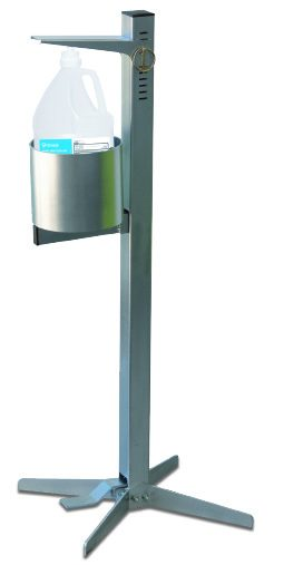 Pedal Activated Hand Sanitizer Stand